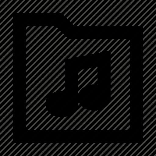 folder, gui, media, music, play, web icon