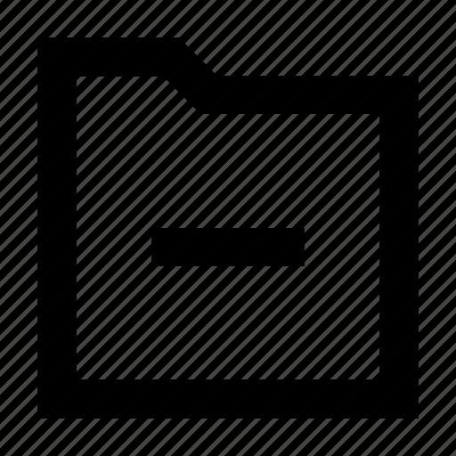 arrow, folder, gui, remove, web icon