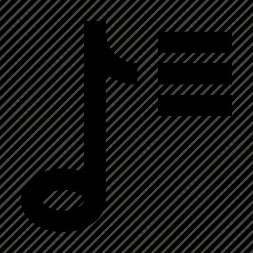 audio, gui, music, note, playlist, web icon