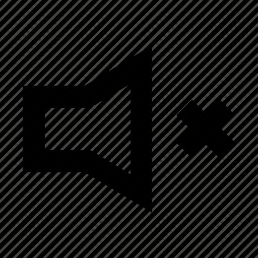 audio, gui, music, mute, speaker, web icon