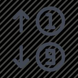 arrange, ordenation, organize, rearrange, sorting icon
