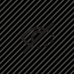 blind, hidden, hide, interface, view icon