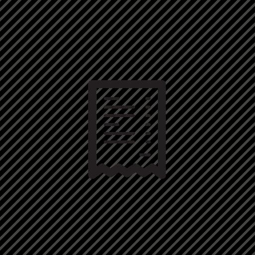 bill, check, condition, interface, menu, stock, term icon