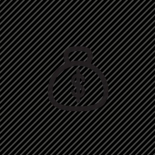 bag, cash, interface, money icon