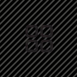 align, arrange, interface, pic, thumbnail icon