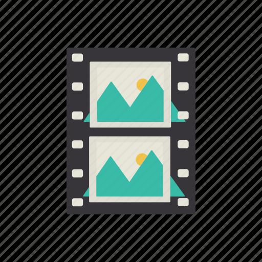cine-film, film, interface, movie, video icon