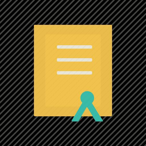 certificate, charter, interface, reward icon