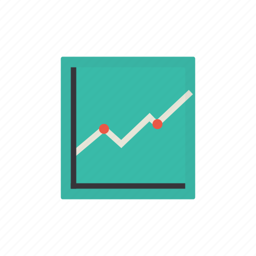 graph, growth, interface, timetable icon