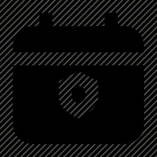 calendar, date, gui, protect, schedule, web icon