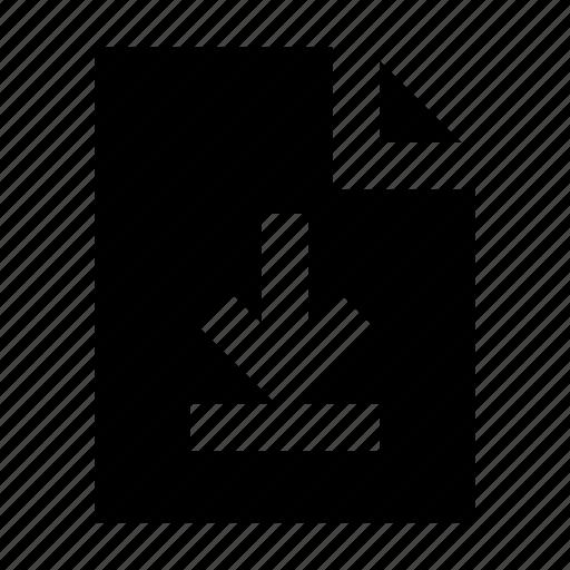 document, download, file, gui, web icon