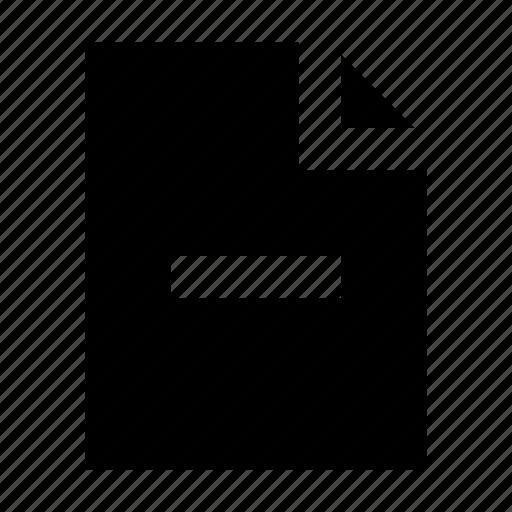 document, file, gui, remove, web icon
