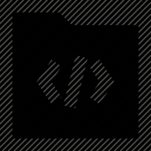 code, download, folder, gui, web icon