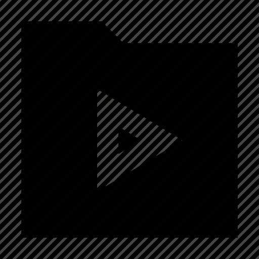 folder, gui, media, play, video, web icon