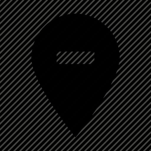 gui, location, map, pin, remove, web icon
