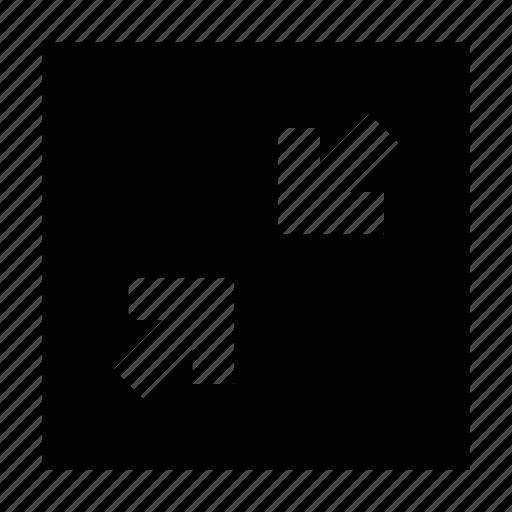 arrows, gui, reduce, scale, web icon