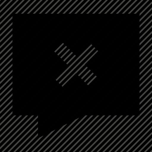 bubble, chat, contact, gui, remove, speech, web icon