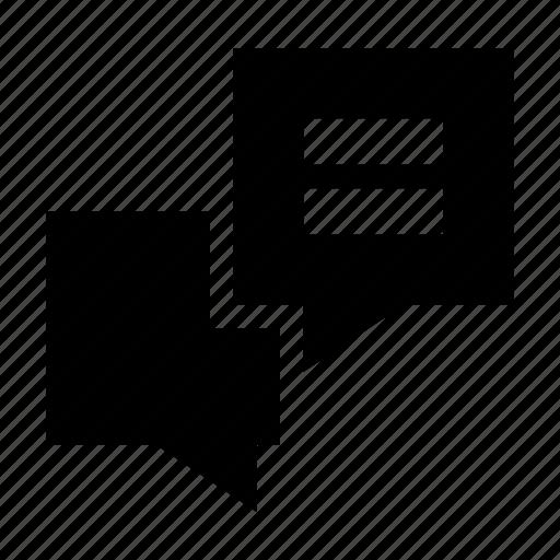 chat, conversiation, gui, speech, text, web icon