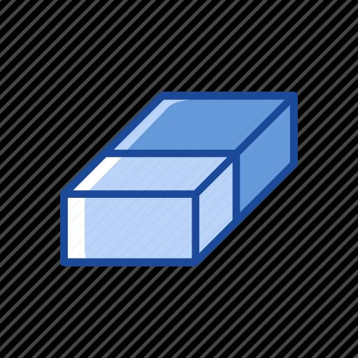 adobe tool, erase tool, eraser, school supplies icon