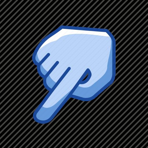 cursor, hand, index finger, pointer icon