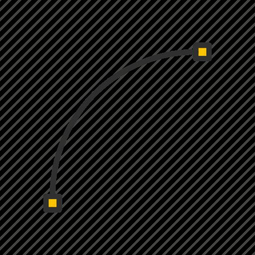 adobe tool, arc tool, curve, shape icon