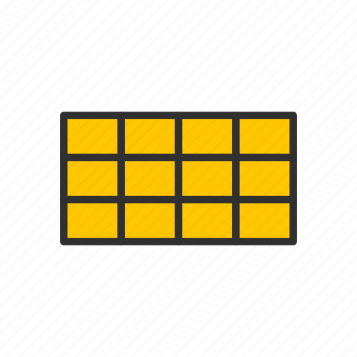 adobe tool, chart, rectangular grid, table icon