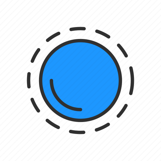 adobe tool, appearance tool, circle, dotted circle icon