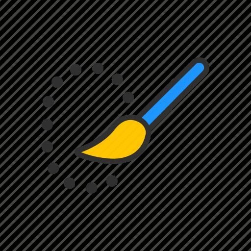 adobe tool, brush, paint brush, quick selection tool icon
