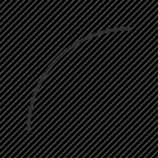 adobe, arc tool, curve, shape icon