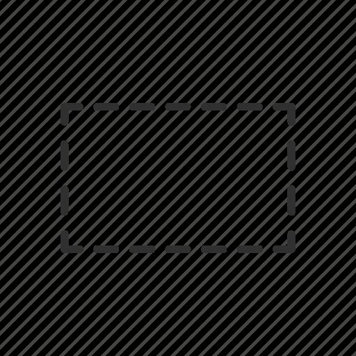 adobe, photoshop, rectangle, rectangular marquee tool icon