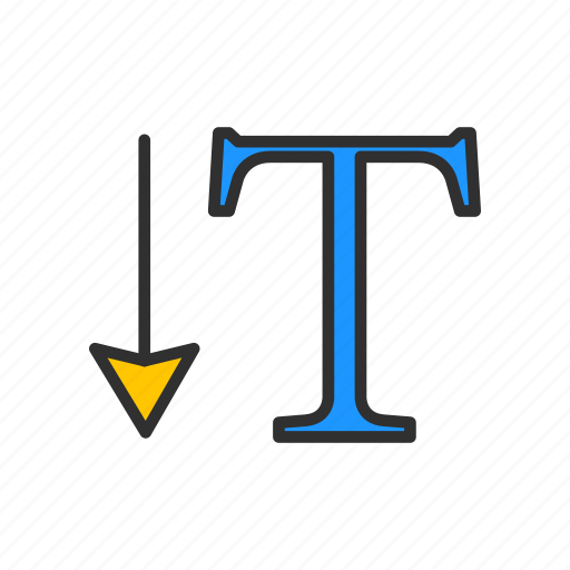 font, text, text type, vertical type tool icon