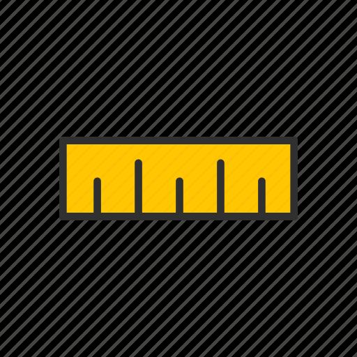 dimension, measurement, ruler, ruler tool icon