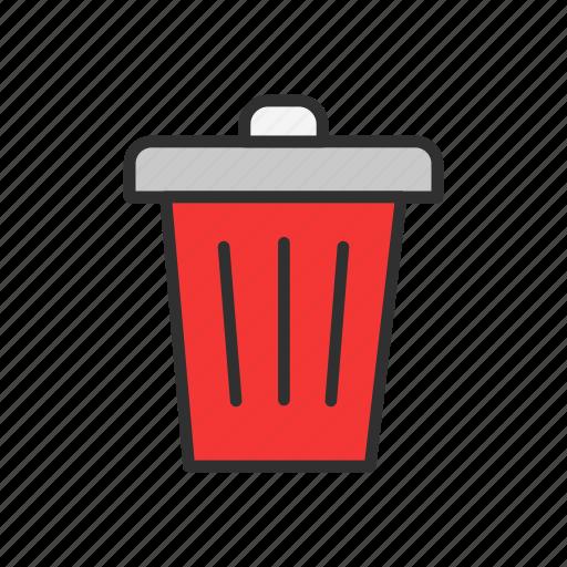 delete, eraser, remove, trash icon