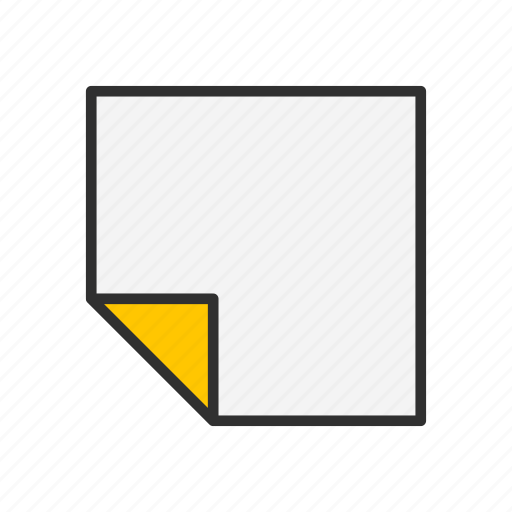 document, file, note, paper icon