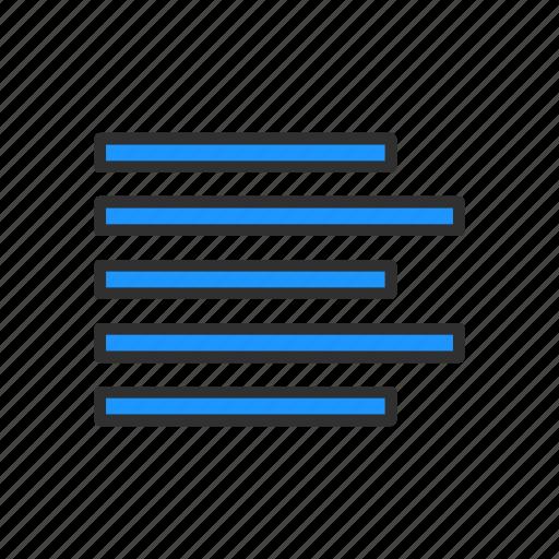 align left, alignment, letter format, line icon