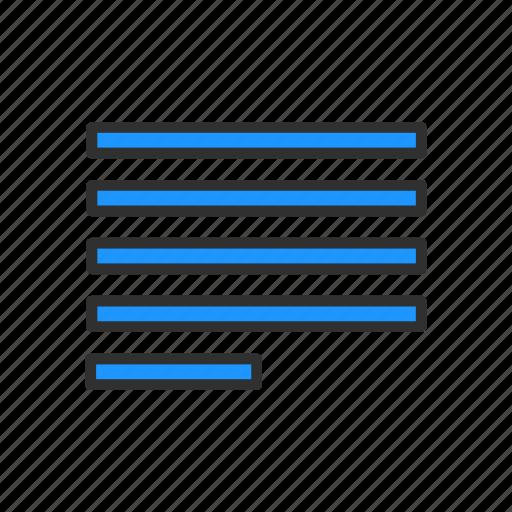 align left align tool alignment letter format icon