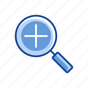 browse, magnify, magnifying glass, zoom out icon