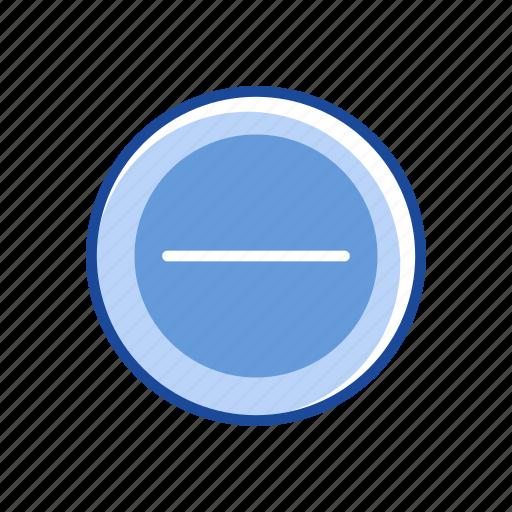 block, erase, minus, negative icon