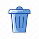 delete, remove, trash, trash bin icon