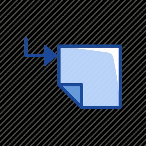 copy, new page, paper, transfer file icon