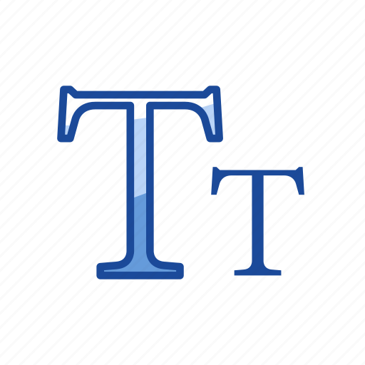 letter, small caps, text tool, type tool icon