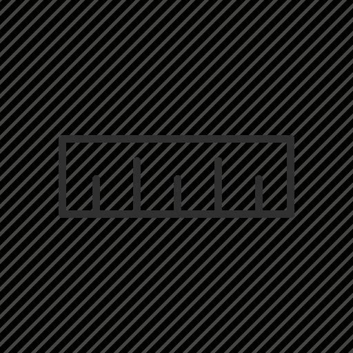 dimensions, measurement, ruler, ruler tool icon