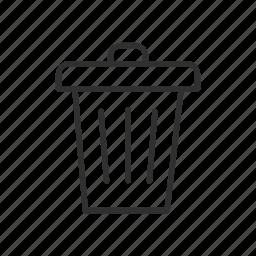 delete, erase, remove, trash icon
