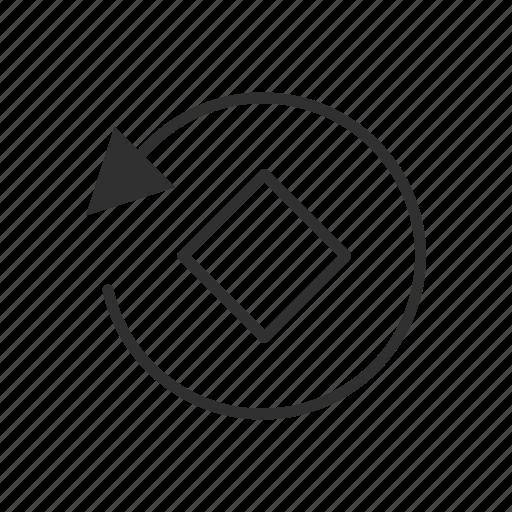 arrow, diamond, rotate, rotate tool icon