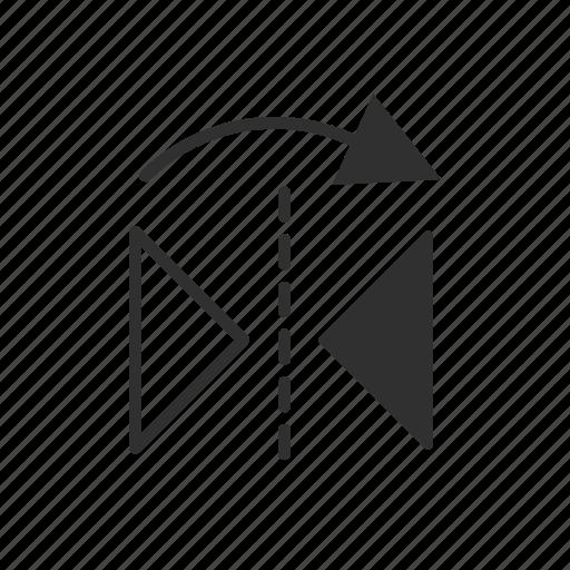 adobe tool, arrows, photoshop, reflect tool icon