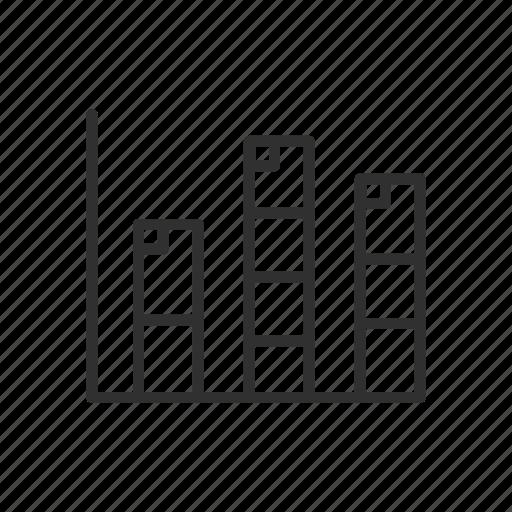 bar graph, chart, column graph, photoshop icon
