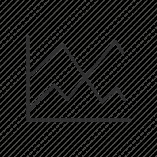 adobe tool, chart, graph, line graph icon