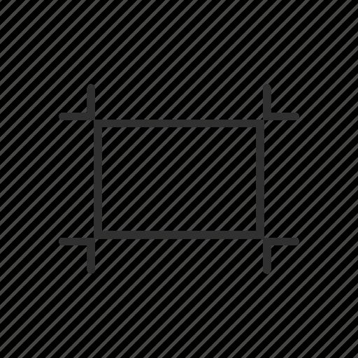 adobe tool, artboard tool, crop, square icon