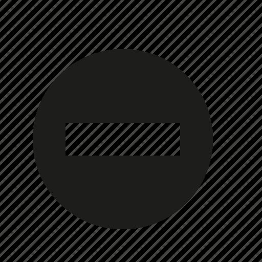 button, minus icon