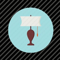 bulb, energy, interior, lamp, light, lightning, table icon