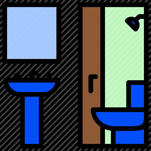 Bath, bathroom, bathtub, toilette, washroom icon - Download on Iconfinder